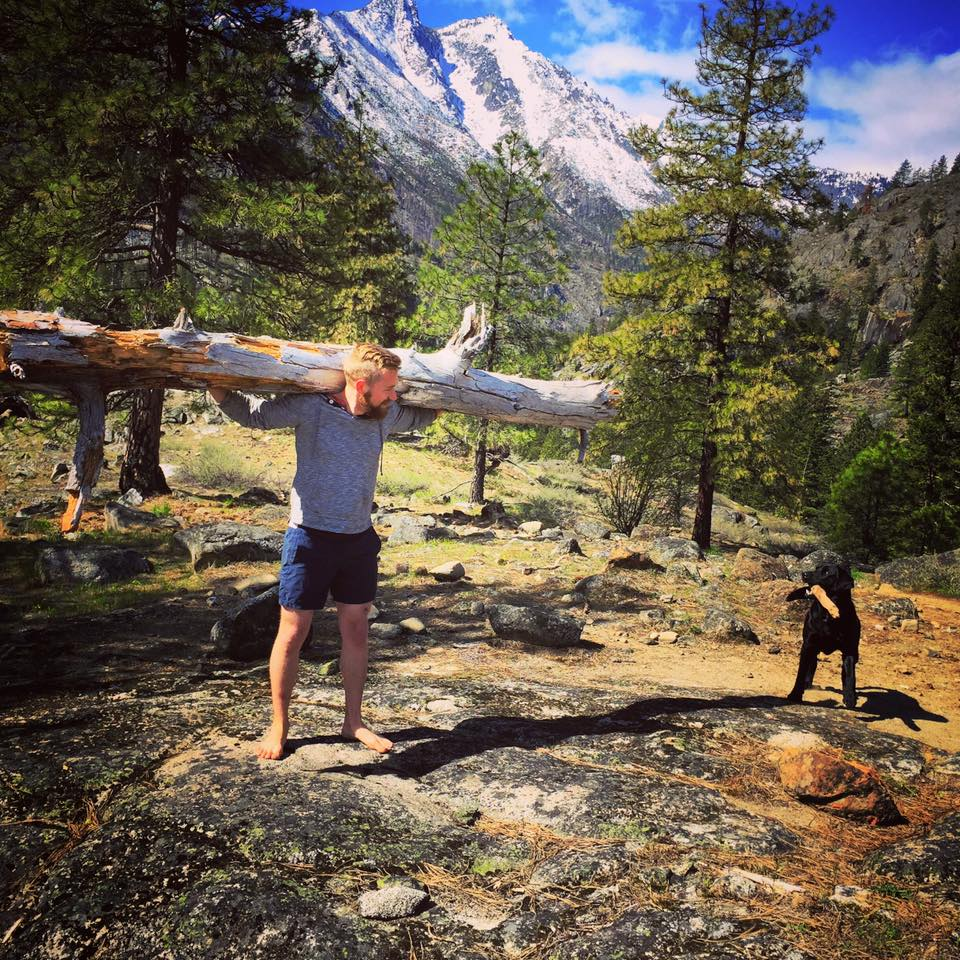 Leverage in action: the free time to climb mountains any day of the week and the strength to pick up fallen trees along the way.