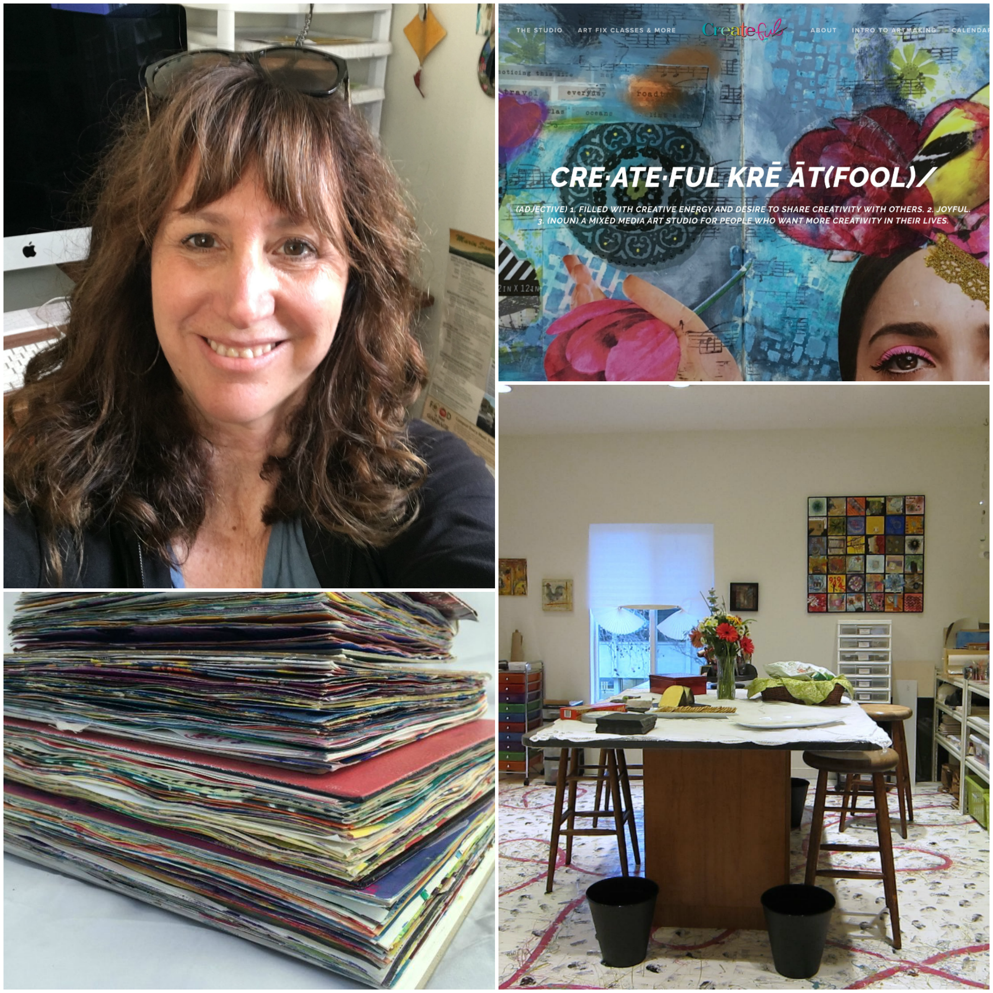 Denise Herman | Createful Studio   Empowering creative self expression and joyful art-making as a way of life.  Instagram @denise.createfulstudio   Facebook Createful Studio  www.createfulstudio.com   Favorite Exercise: Pistol squats on the TRX (because I need them!)