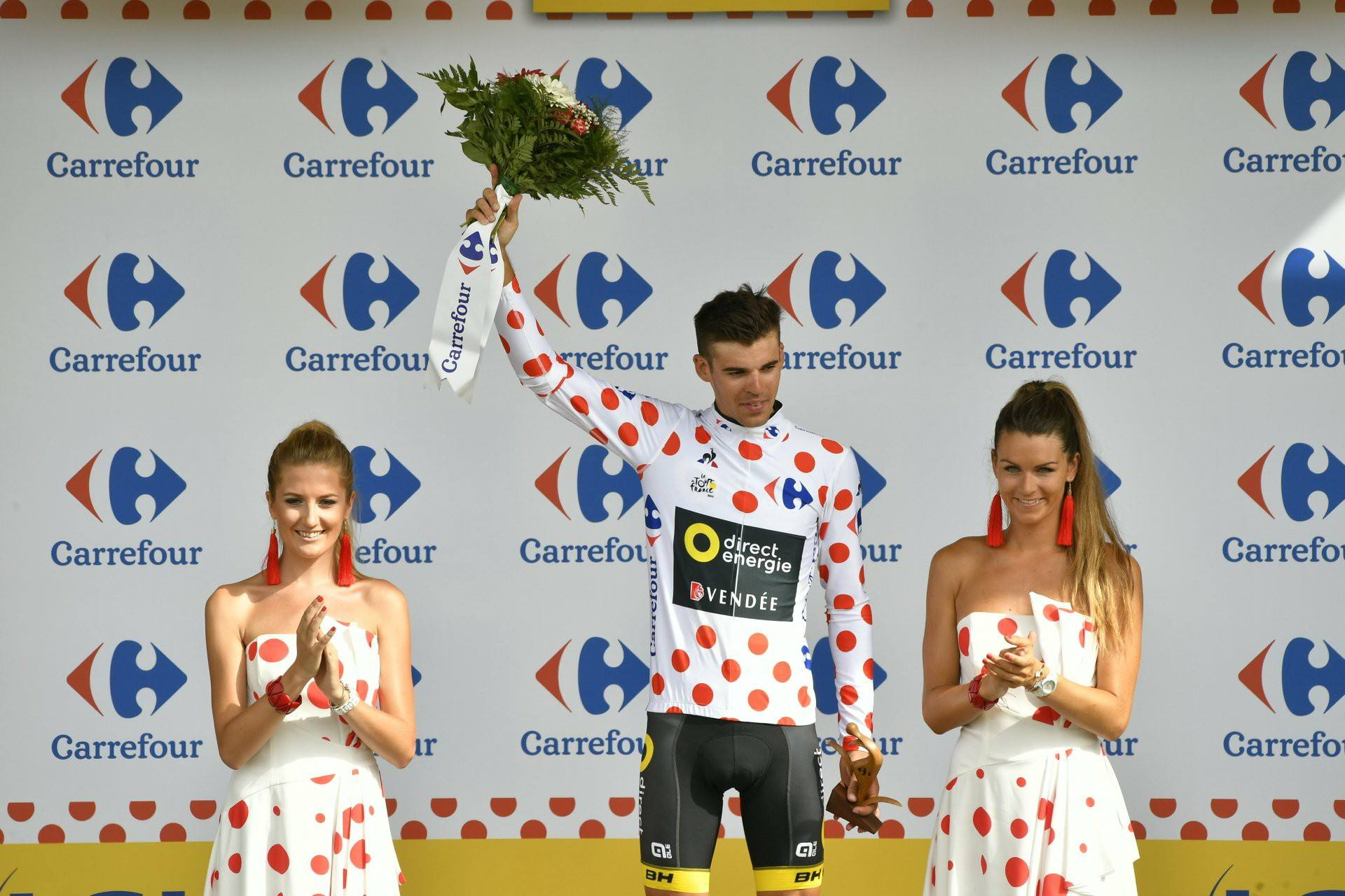 Polka Dot jersey for BH in first MTN Stage of the Tour!