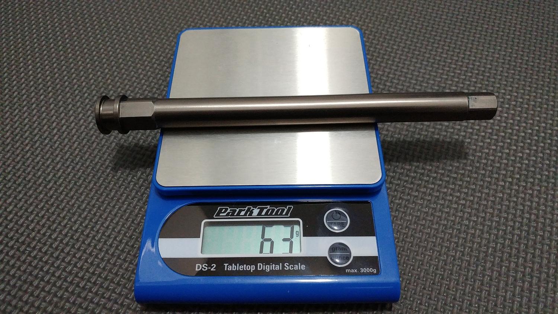 Mastodon PRO axle = 63gr on the digital scale