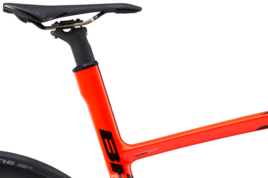The no-cut mast allows our BH frame designers to precisely tune the ride quality and stiffness
