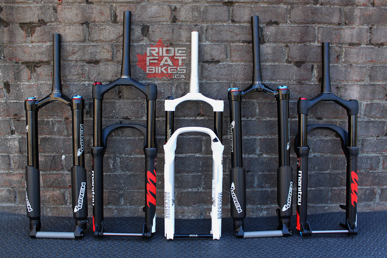 RIDEFATBIKES.ca - Suspension fork shootout 2018 - fat bikes in canada