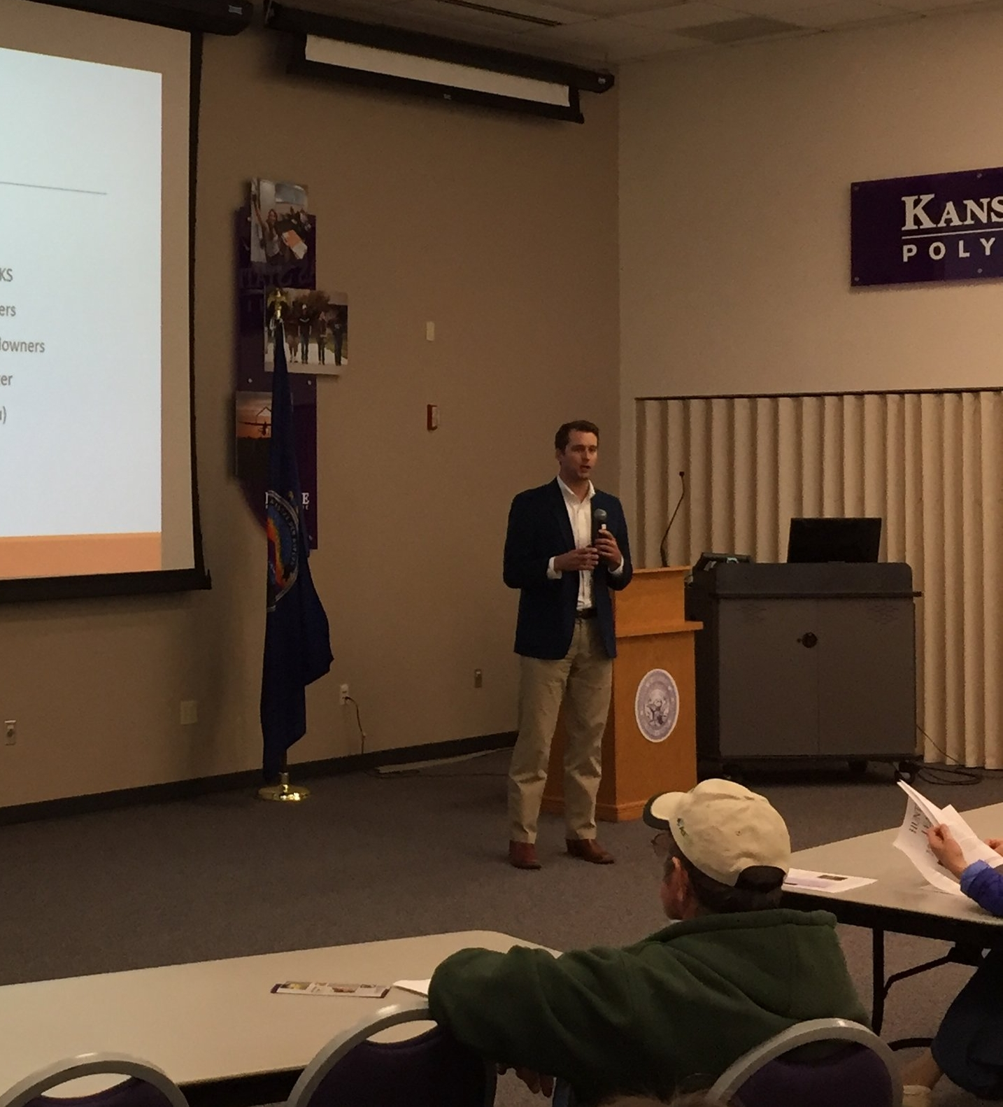 "Attorney Nate Gilbert presenting to farmers in Salina, Kansas in conjunction with the Kansas State University Extension Office on the value of hunting and recreational leases.  While there are many ""pros"" for hunting leases, it is important to evaluate and properly prepare for common pitfalls in allowing individuals or groups to hunt on your property."