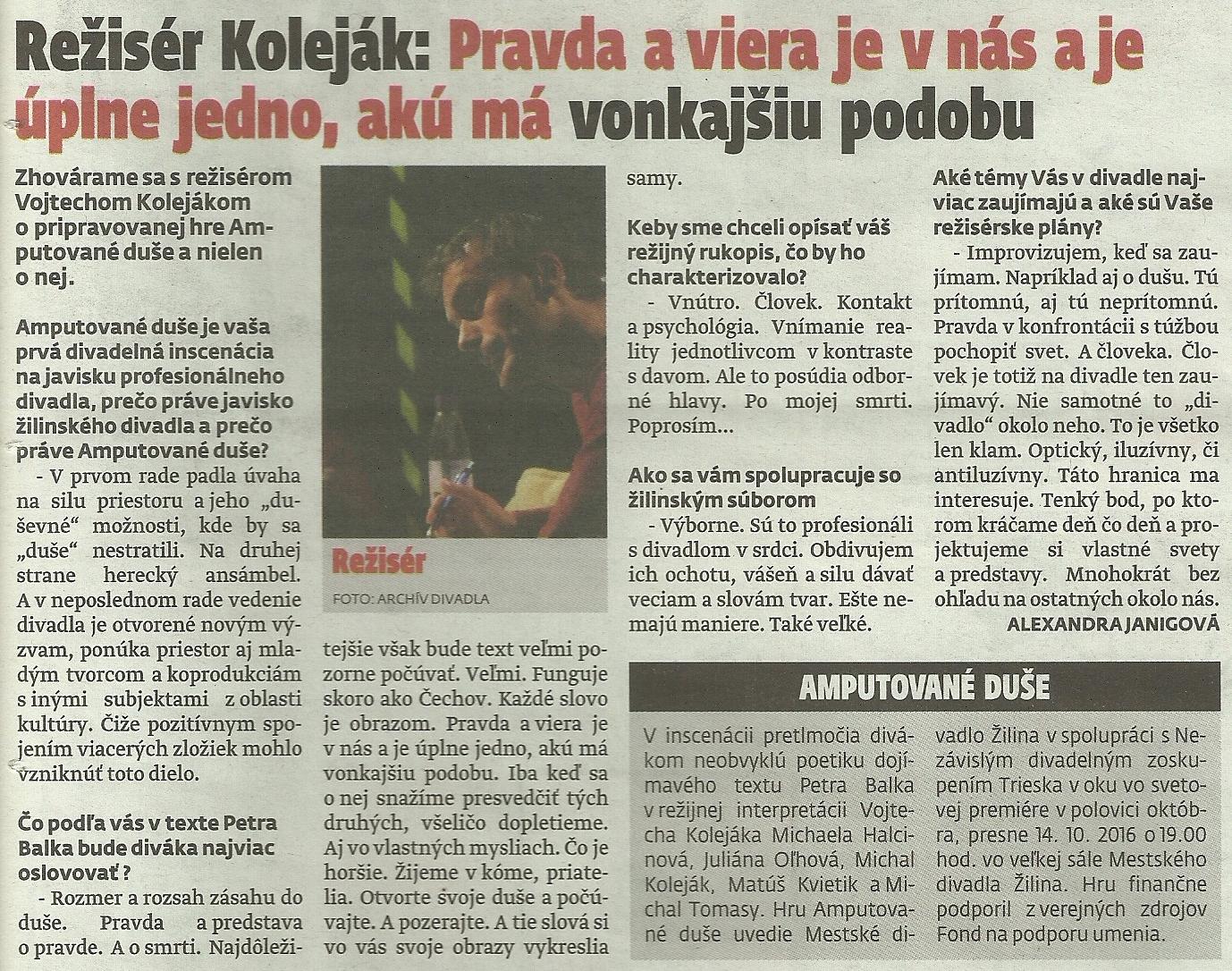 MY Zilinske noviny, c.40,roc.17,10.10.2016,str. 20