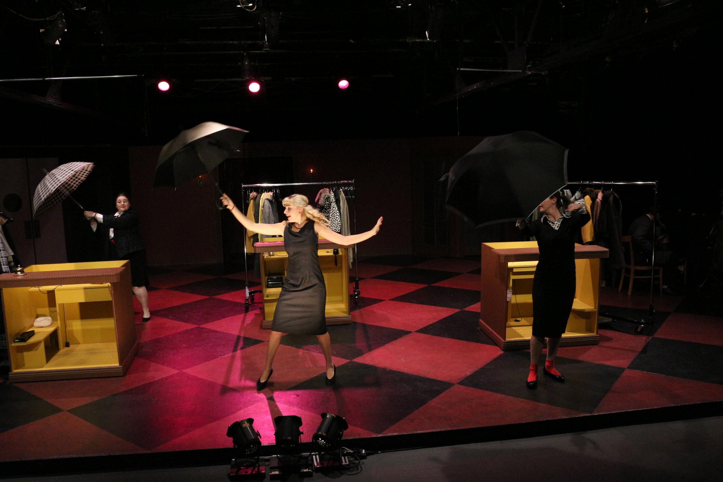 Gayle Ottmar, Charlotte Calvert & Anna Hickey, Red Eye Theater, 2014; photo by Liz Josheff