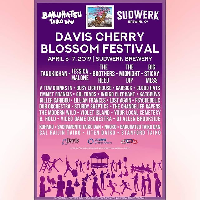 We are super excited to be playing at the @davischerryblossom festival at @sudwerkbrew on Saturday 4/6. All of our proceeds will be donated towards @my_sisters_house to go towards underserved women in the community. Music/art/beer they'll have it all, and it's for a great cause. We'll be playing at noon so come down and have some beerce and enjoy the sunshine! We'll see you there! #localmusic #sakurafestival #cherryblossomfestival #cherryblossom #sudwerk #alternativerock #indie #rock