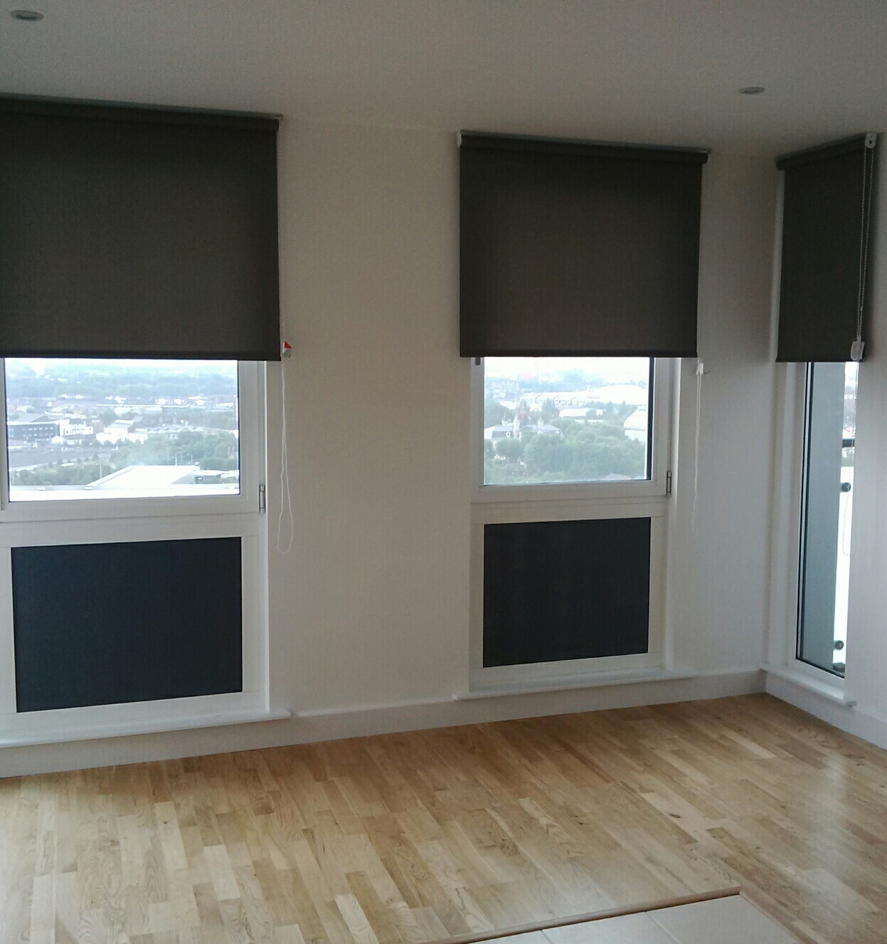 fabric blackout roller blinds at top end student accommodation