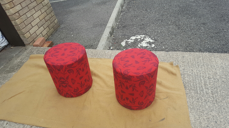 bespoke velvet foot stools