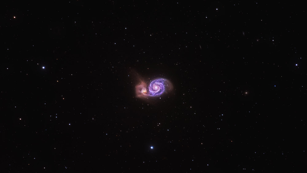 Whirlpool Galaxy © Peter Zelinka