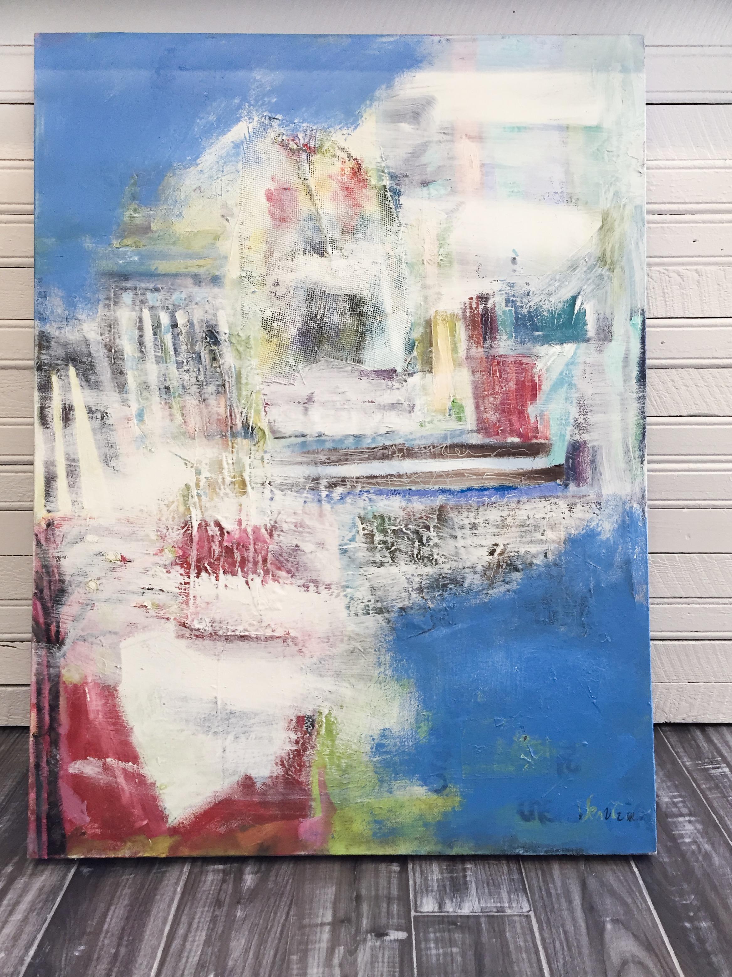 Local artist modern art on canvas.