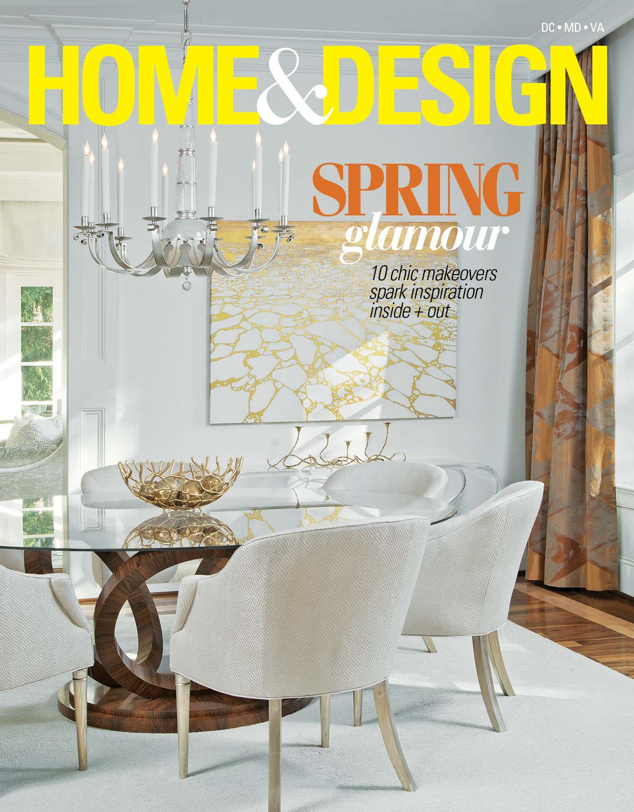 Paul Miller, interior designer published in Home & Design Magazine. Clean and Casual designed space for a young family living in Bluemont, VA.