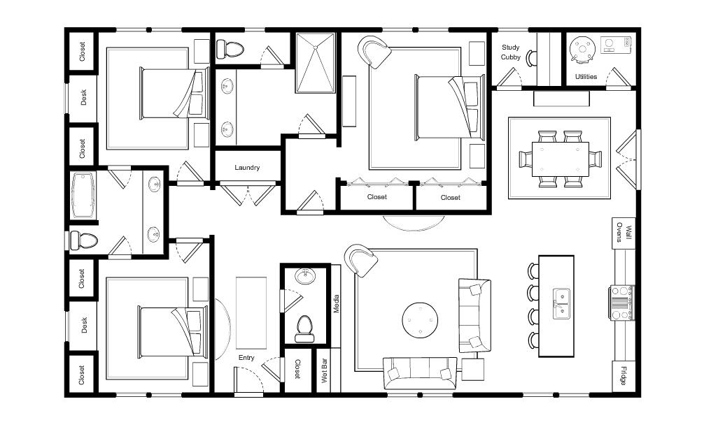 Small Luxury Home Mock Up, Paul Miller, MakeNest Interiors