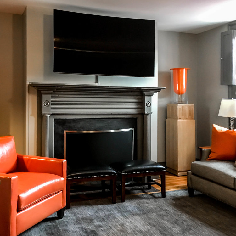 Paul-Miller-published-interior-designer-IDS-professional-dark-wall-color-orange-winchester-northern-virginia-west-virginia-east-coast-design-make-nest-interiors