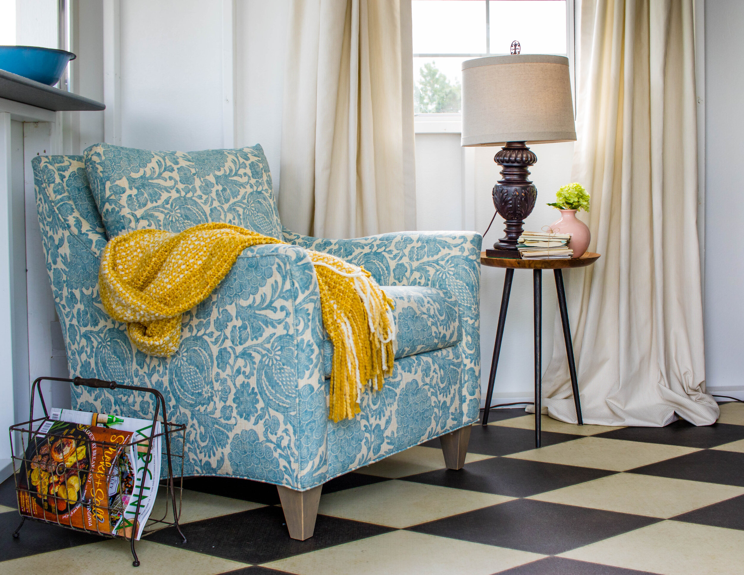 American made quality custom upholstery for the best comfort in our She Shed design