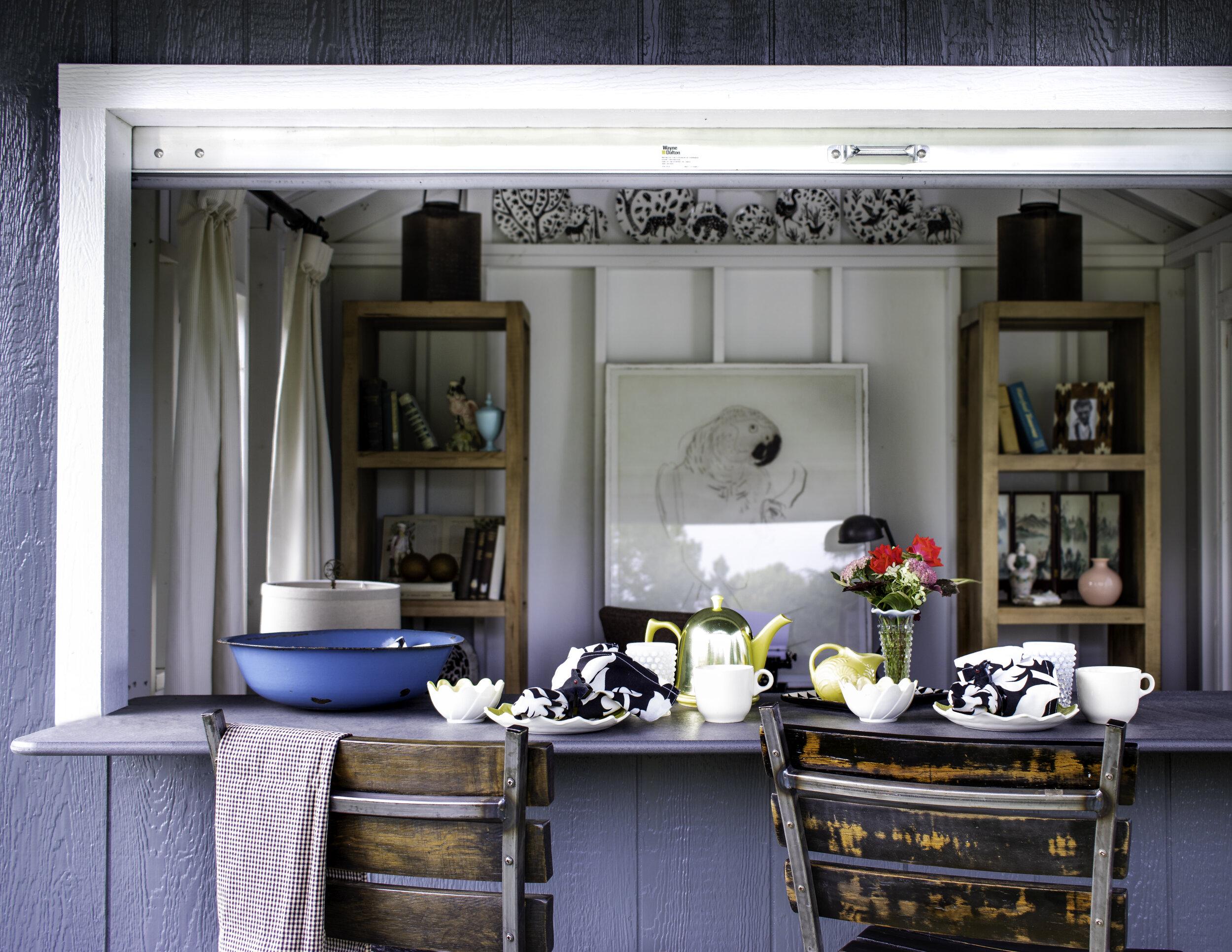 Beautiful vintage indoor-outdoor entertaining space.