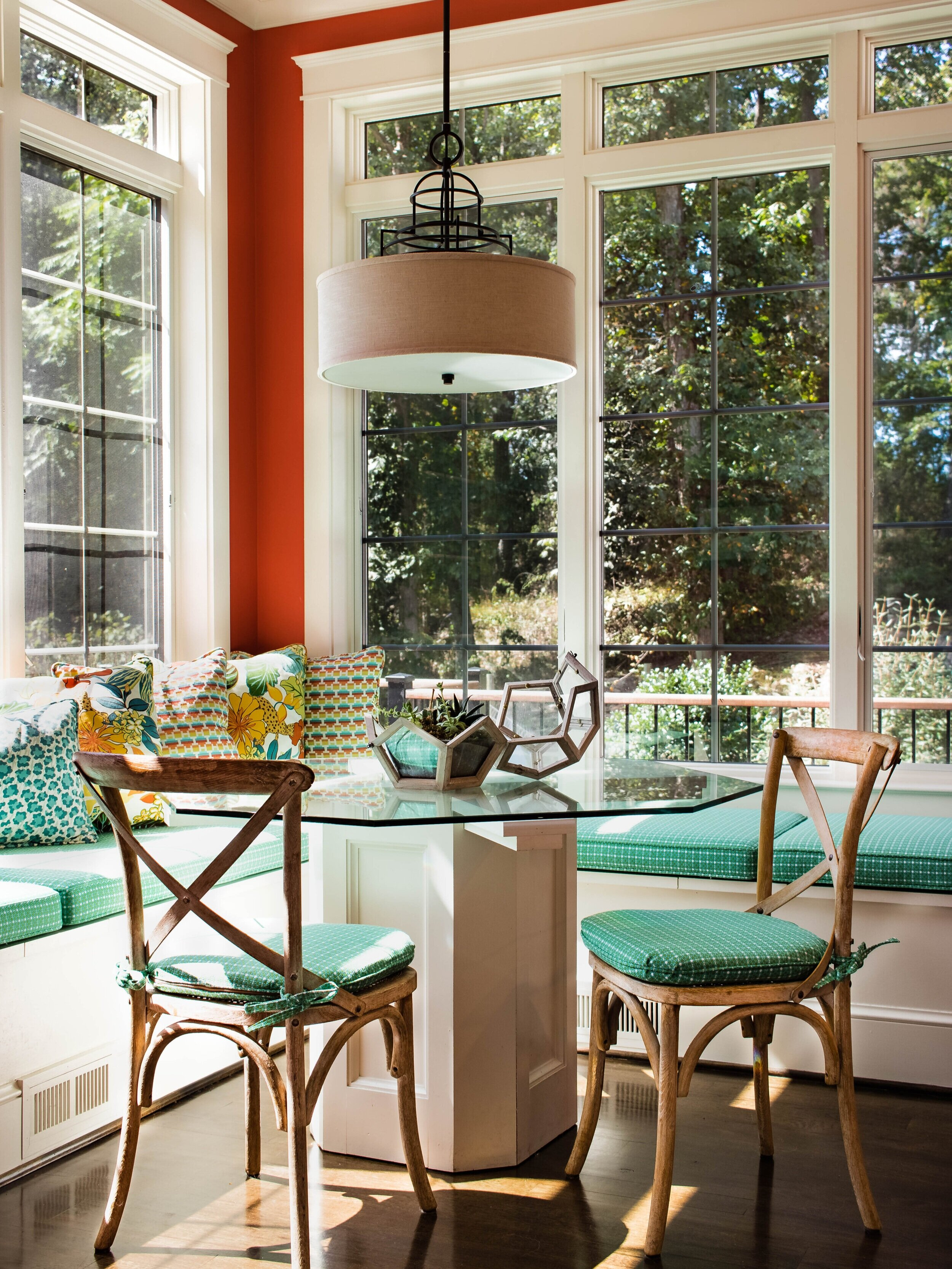 colorful-window-seats-french-chair-breakfast-nook