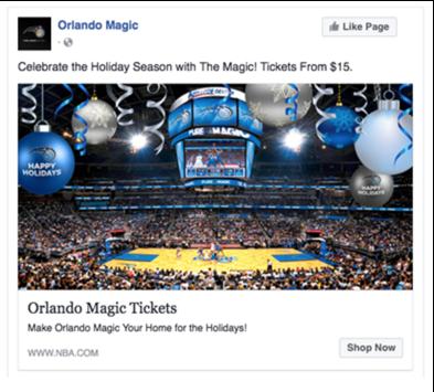 Orlando Magic Facebook Ad