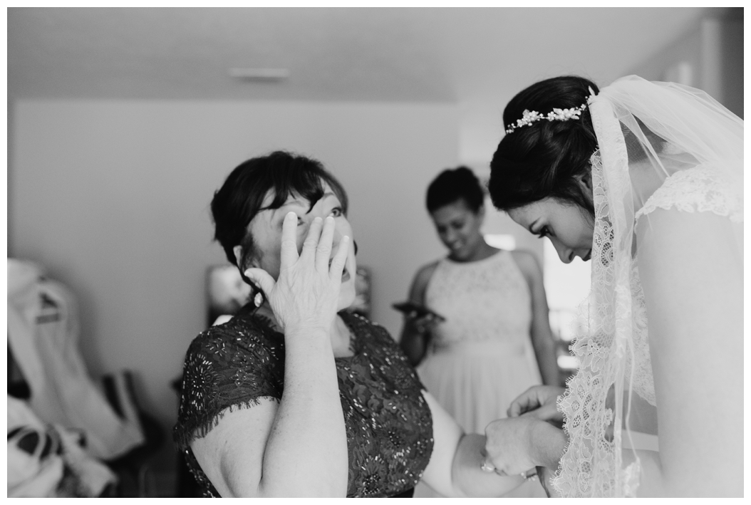 emotional picture of bride's mother