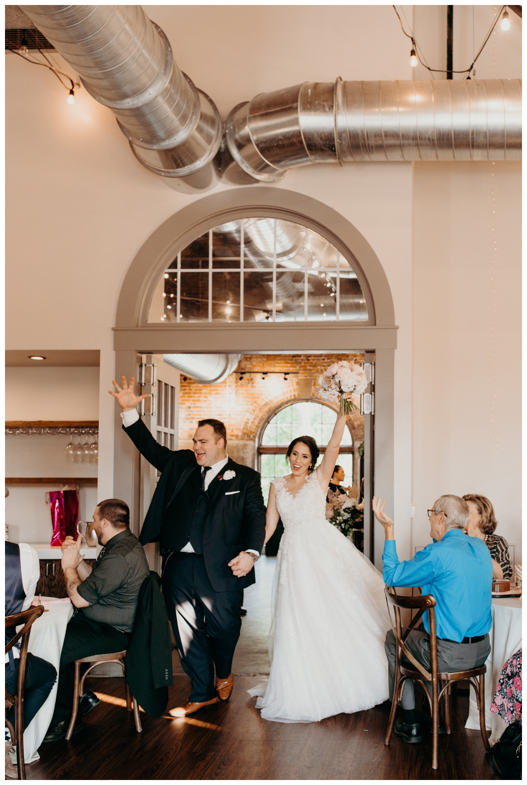 bride and groom entrance at the Edison in Tallahassee