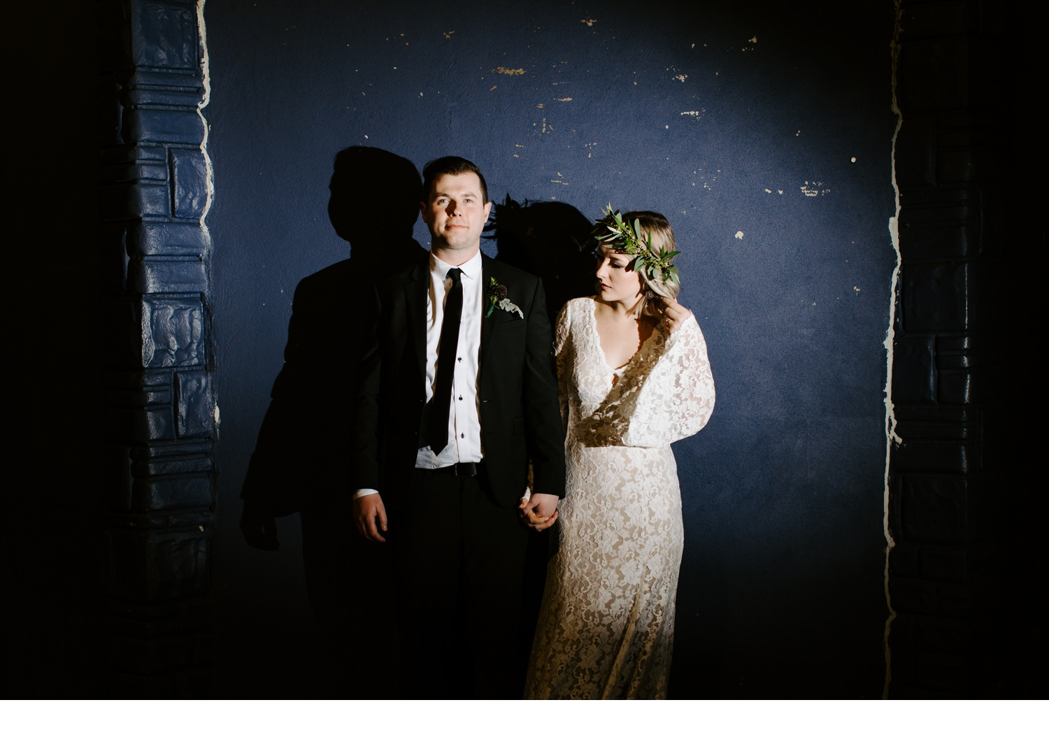 bride and groom portraits in asbury park
