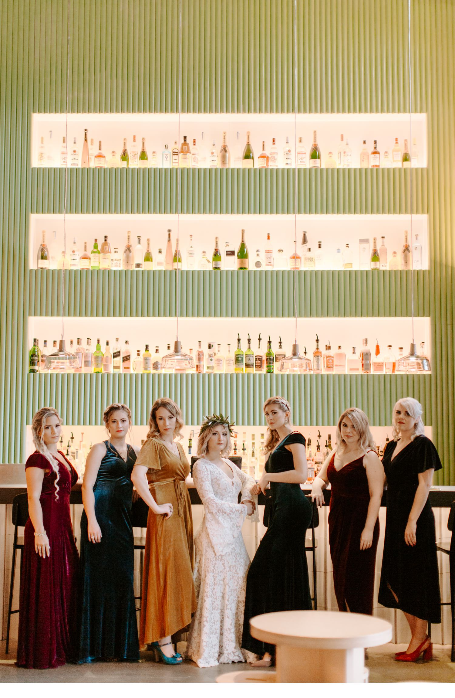 wedding party portraits at asbury hotel