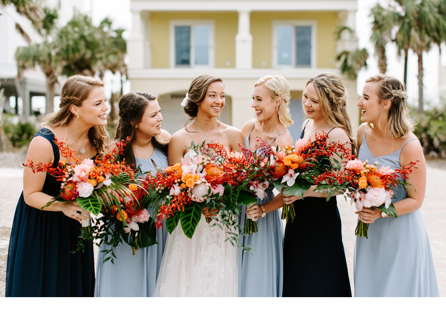 cape san blas wedding party portraits