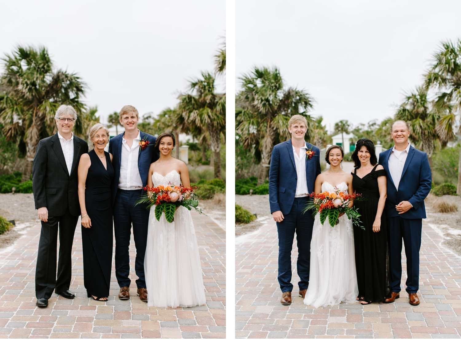 wedding portraits of family in cape san blas