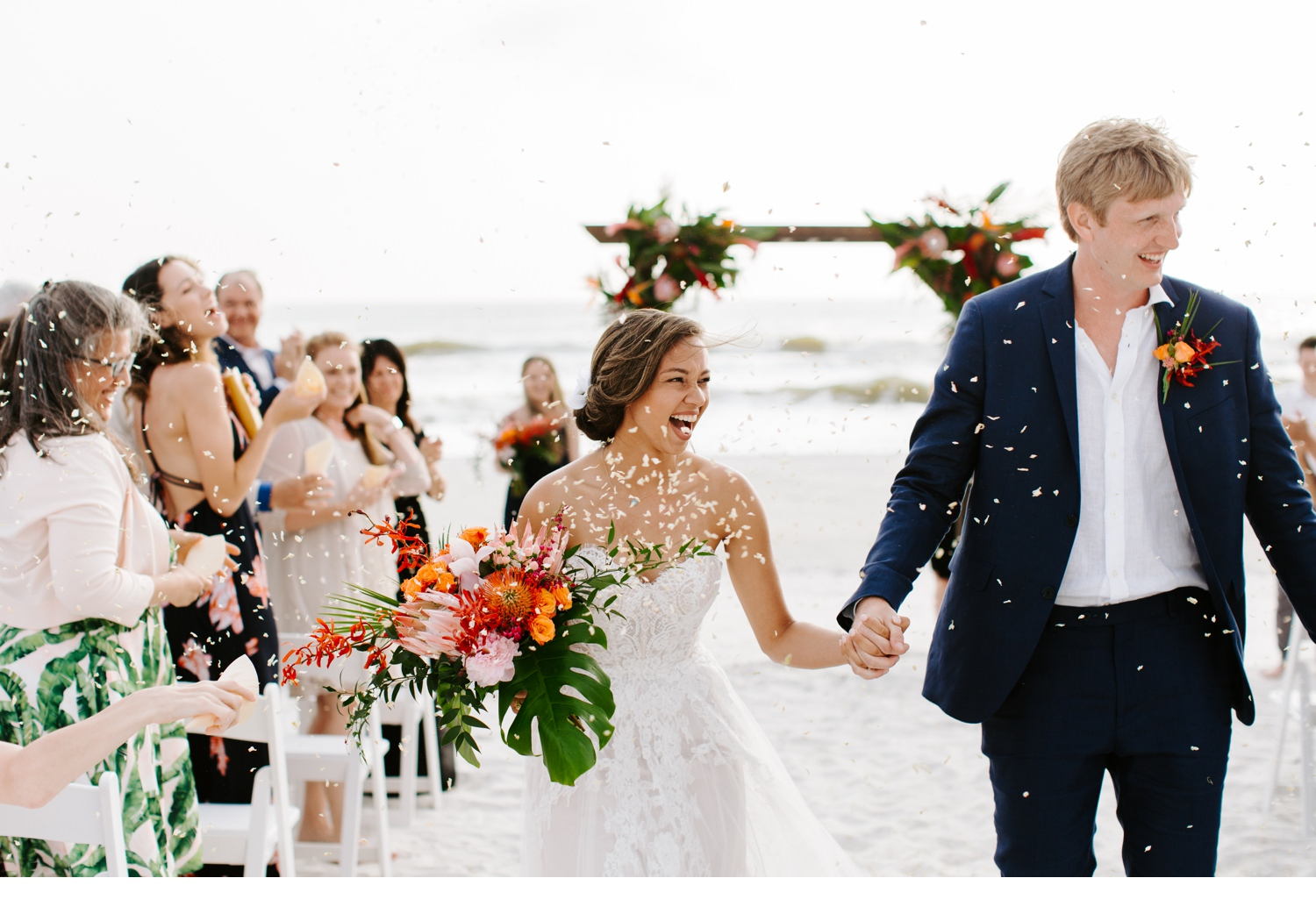 cape san blas beach wedding ceremony