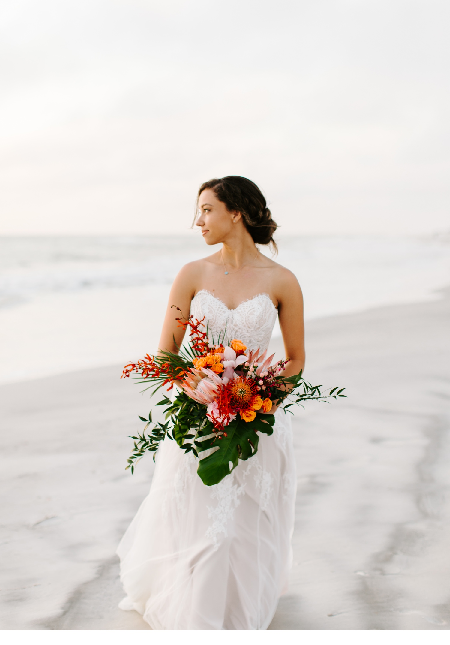 cape san blas bridal portraits