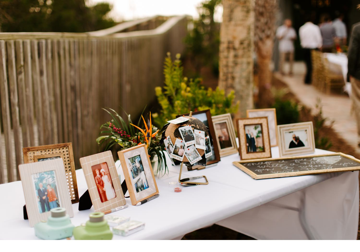 cape san blas wedding reception details