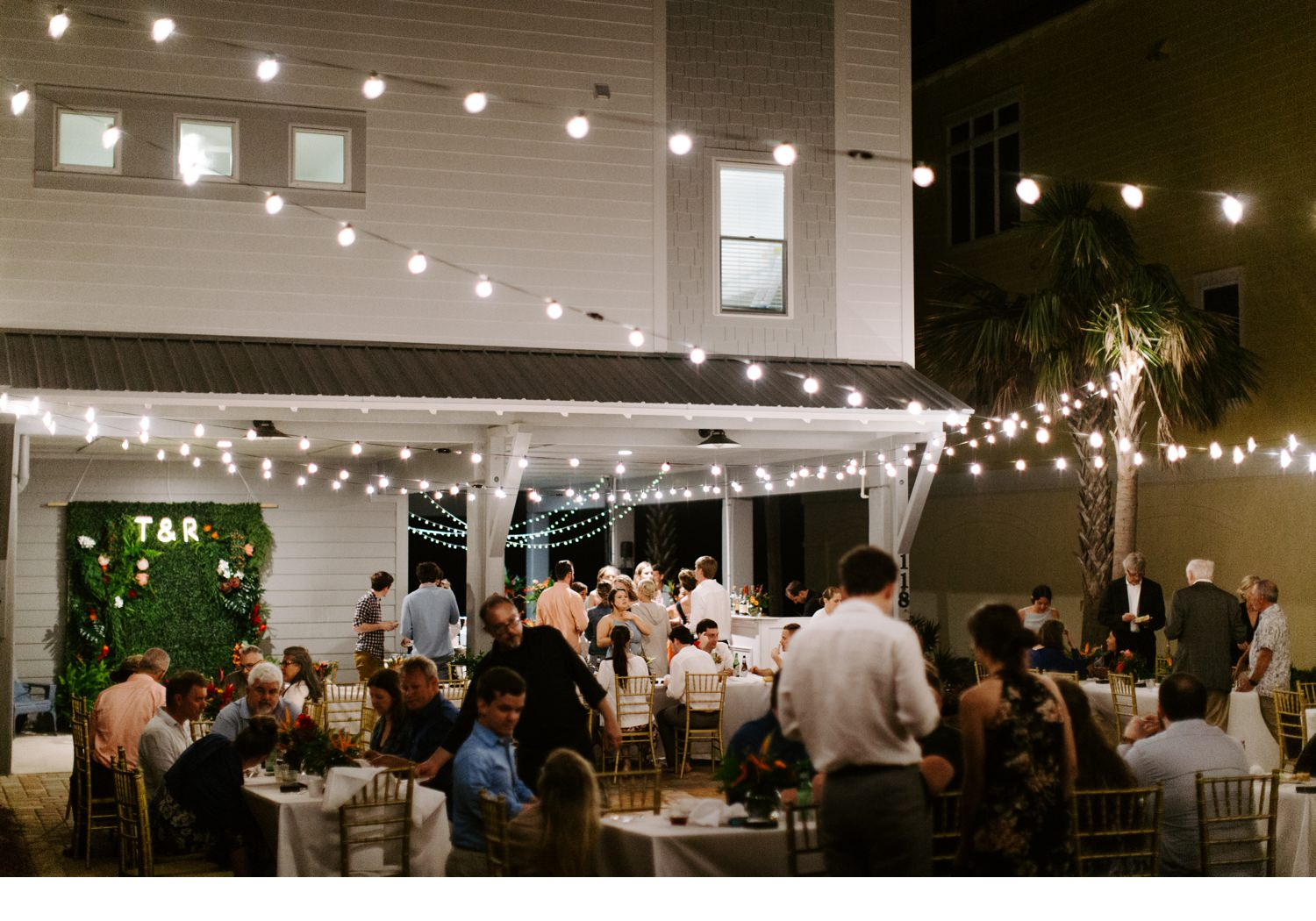 cape san blas wedding reception