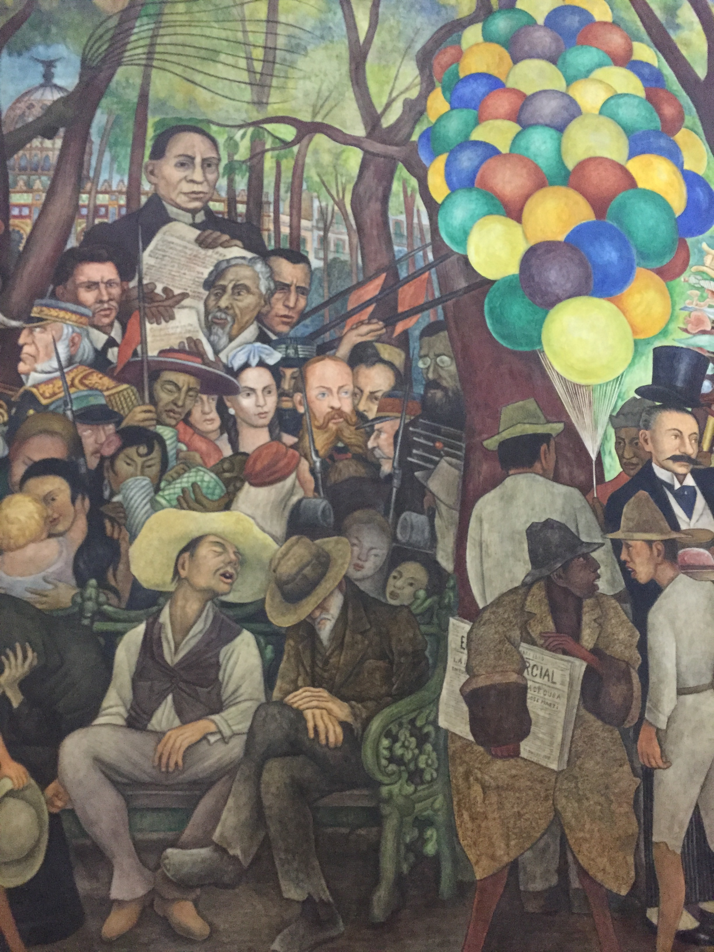 Center left portion of mural