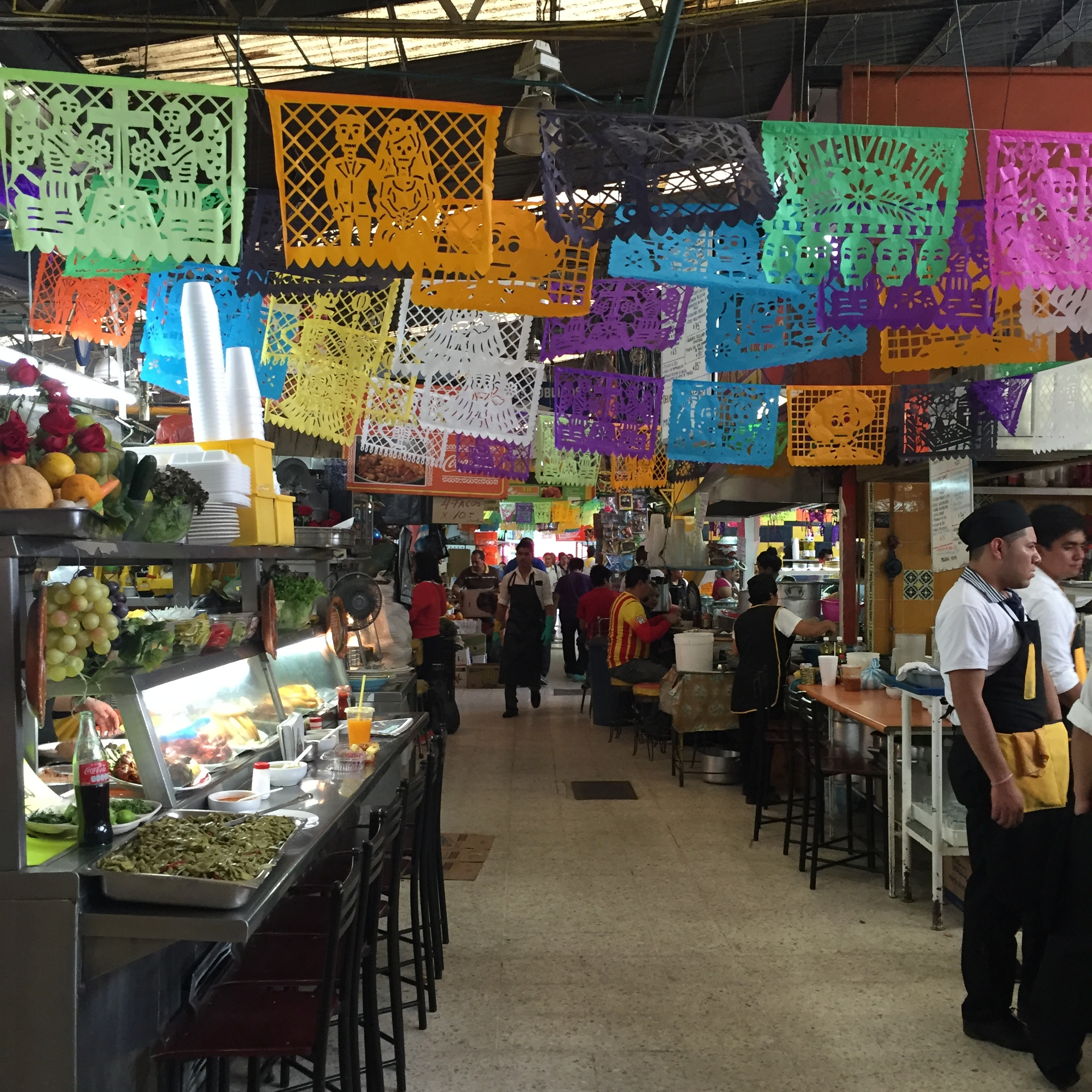 One of the food markets we walked through
