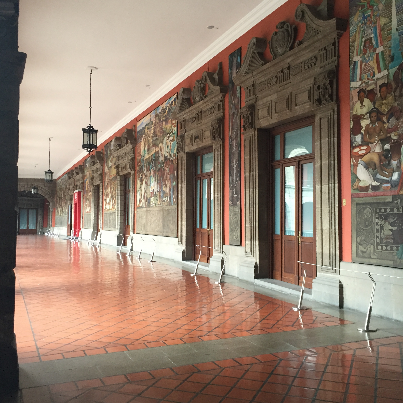 Hallway on the second floor terrace