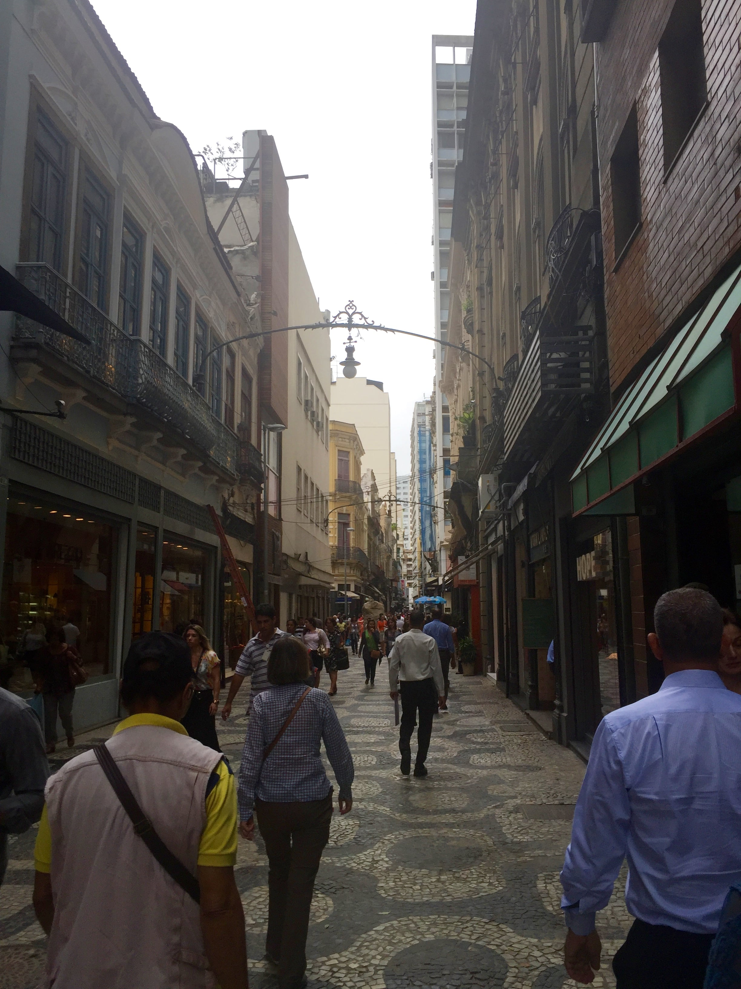 One of the streets leading off of Carioca Square