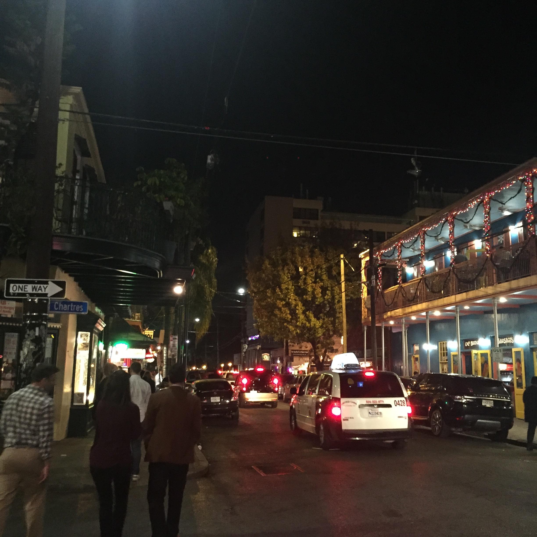 Cute bars, not a pedestrian street, no garbage