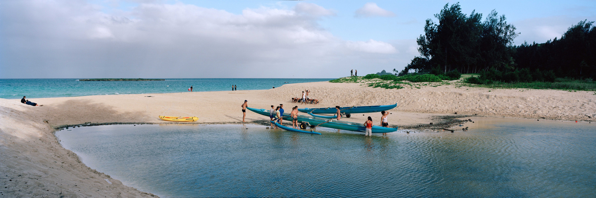 Canoe School, Kailua, Hawaii 2004