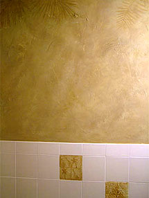 Faux Texture in Metllic Gold Tones