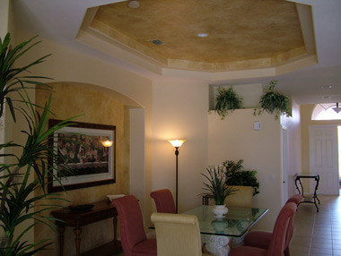 Faux Finish in Dining Room