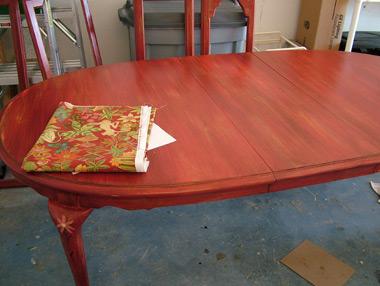 Distressed Finish on Dining Room Set