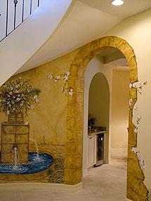 Trompe Stone Design in unique Naples Seagate resident's Foyer