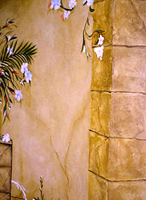 Hand Painted Faux Stone Block on Naples Foyer