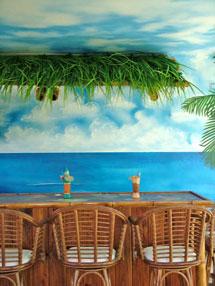 Tiki Bar Beach Mural in Bonita Springs