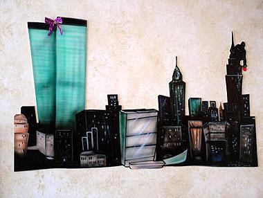 New York Themed Mural