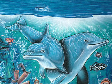 UnderWater Dolphin Mural