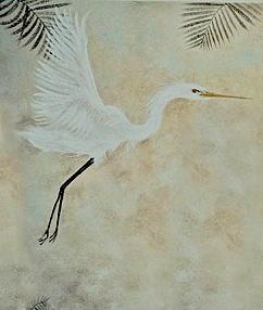 Flying Egret Mural