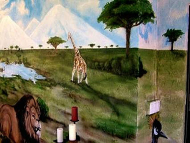 African Themed Mural