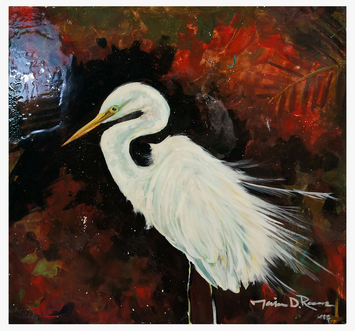 """Colorful Egret"""