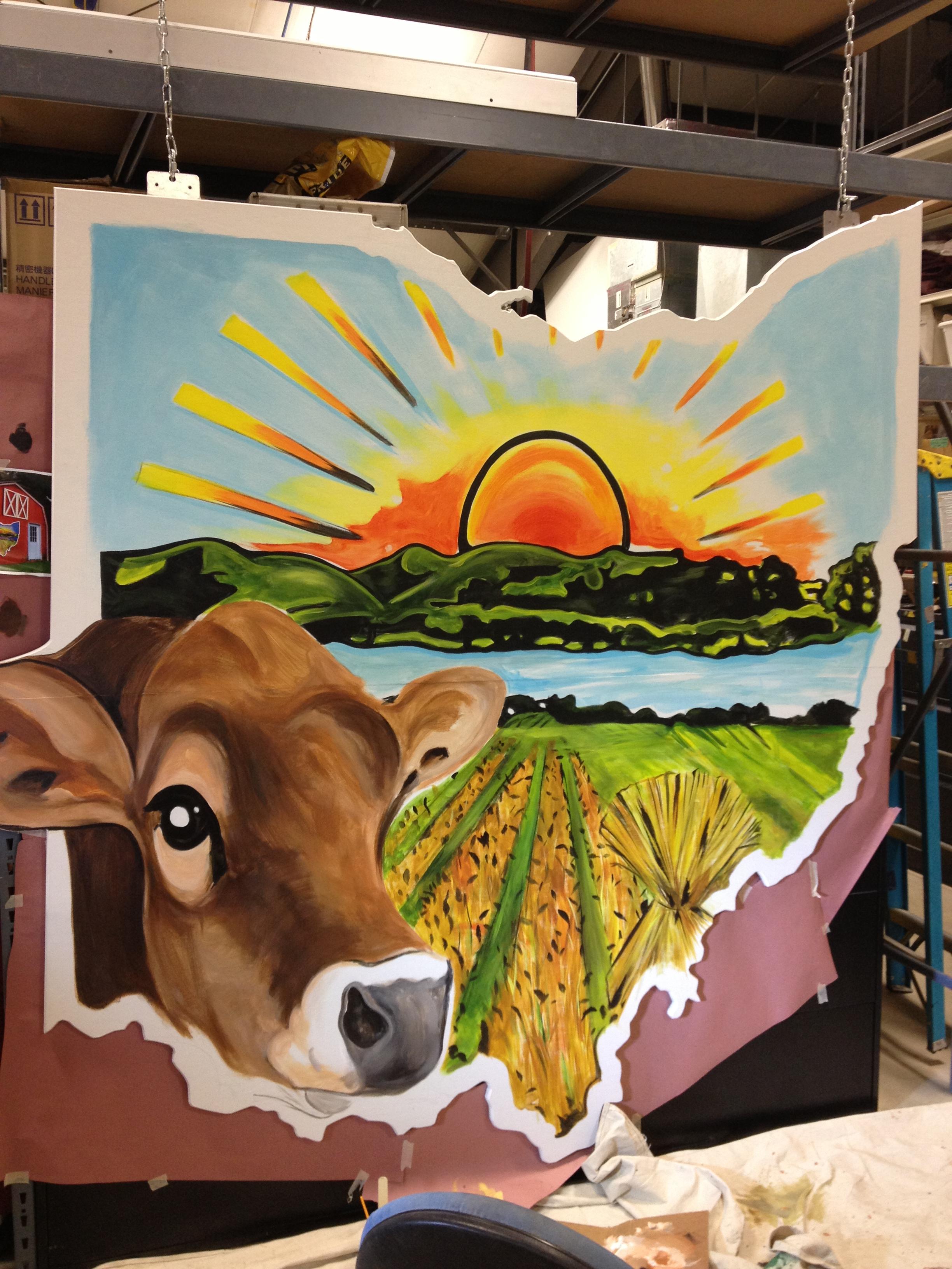 Farm Cow Mural
