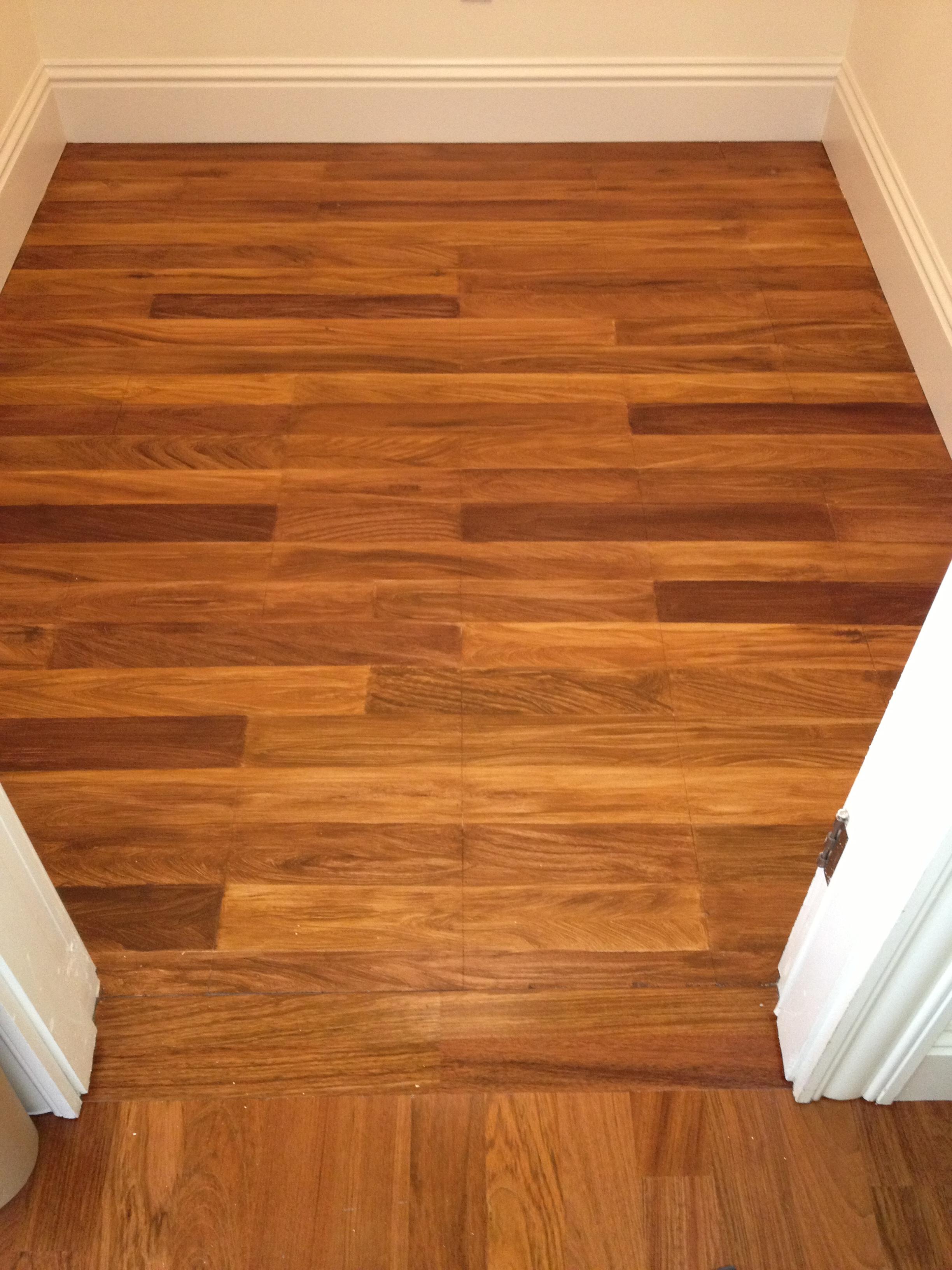 Faux Wood Plank Floor